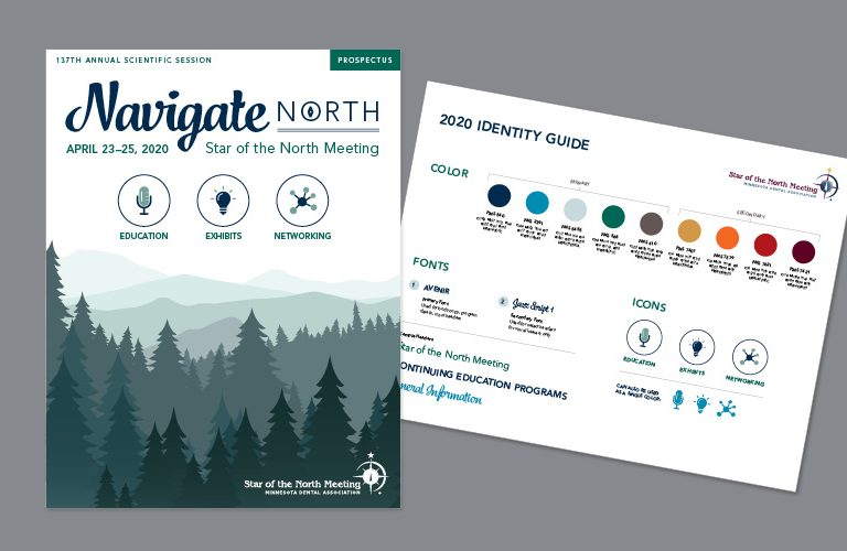 Brand identity guide for MN Dental Association: Star of the North Annual Conference