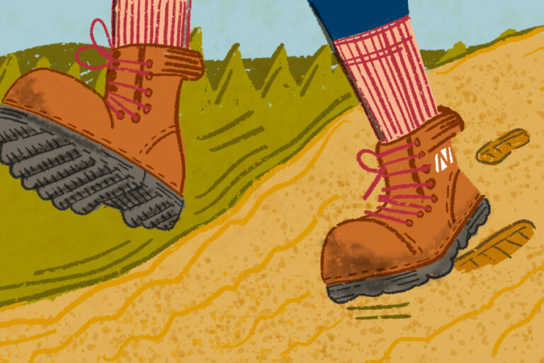 boots hiking illustration