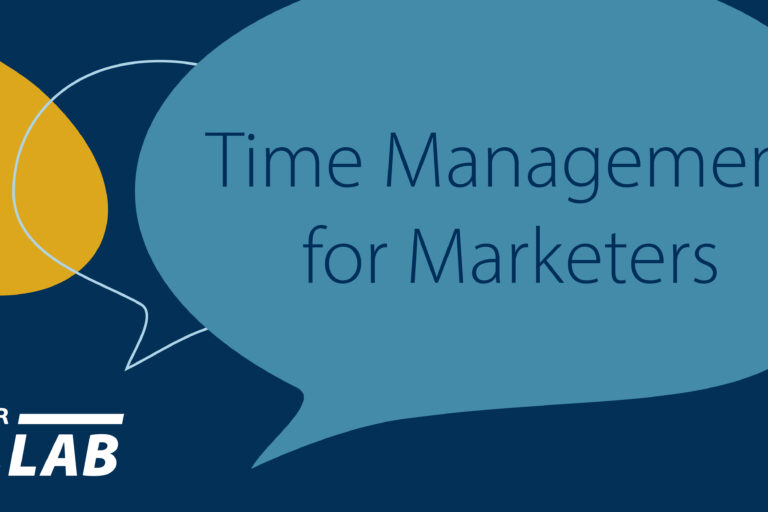 colab recap graphic time management for marketers