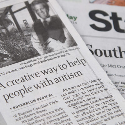 Newspaper story: A creative way to help people with autism