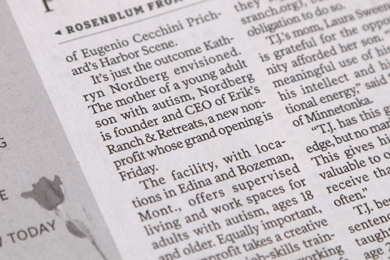 Newspaper story closeup