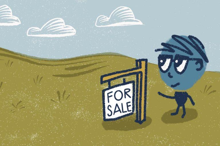 Illustration of For Sale Sign