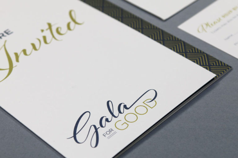 Gala for Good printed material