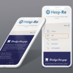 Hesy-Re website displayed on phone