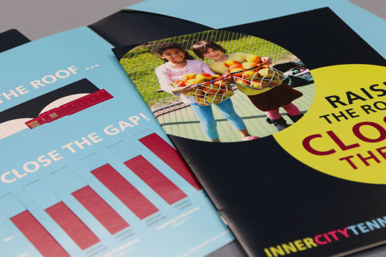 Inner City Tennis Raise the Roof printed materials