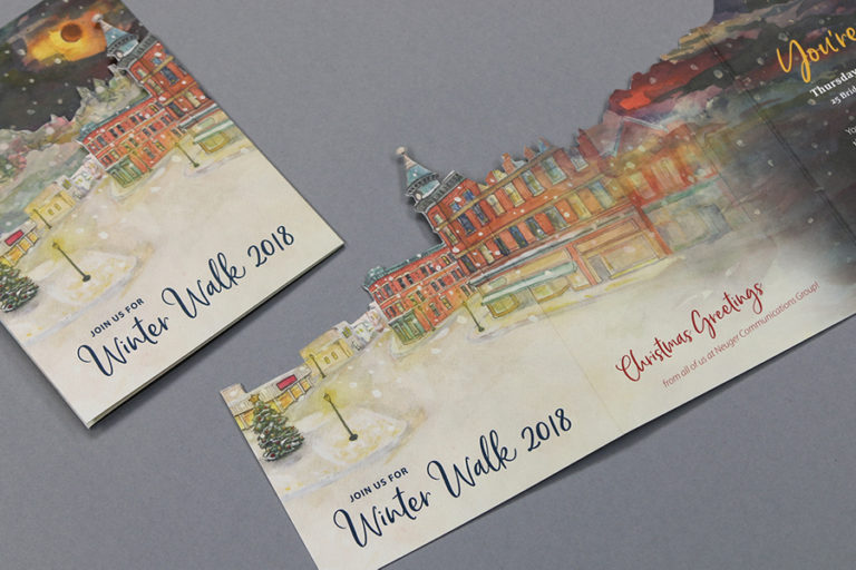 Winter Walk card