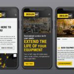 Ziegler CAT website on a phone